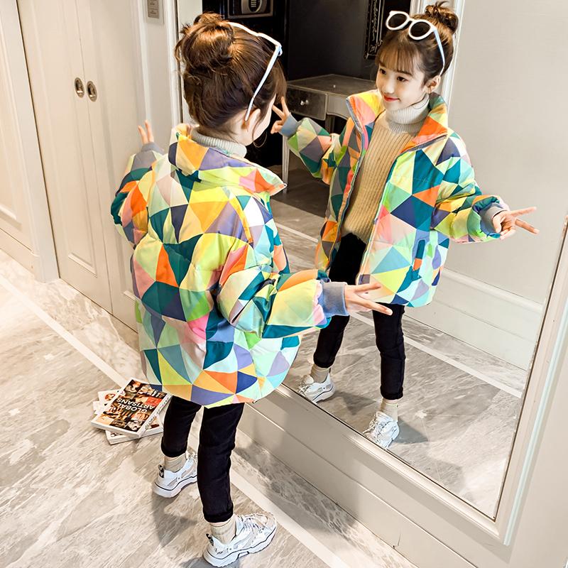 女童短款棉袄2020新款韩版洋气冬装外套儿童加厚棉服女孩冬季棉衣图片