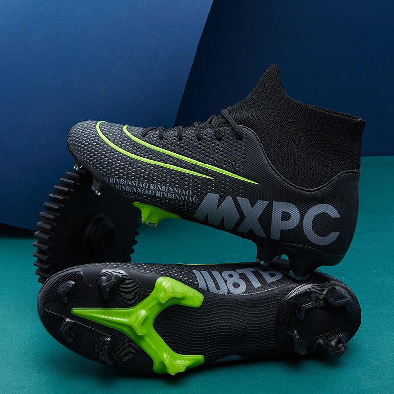 C罗足球鞋长钉ag男女学生儿童成人训练鞋碎钉tf毒蜂cr7梅西13耐磨