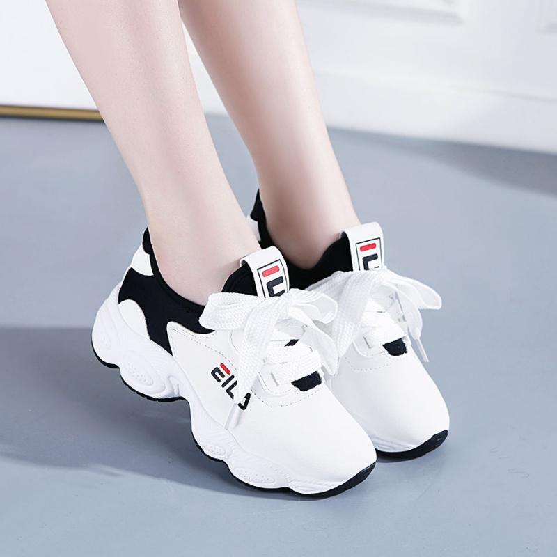 温州透气运动鞋女鞋2019新款百搭韩版原宿休闲老爹鞋网红小白鞋