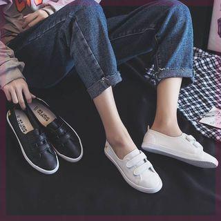 春季帆布鞋百搭低帮女生平底新款复古韩版经典秋季鞋子底板港味紫