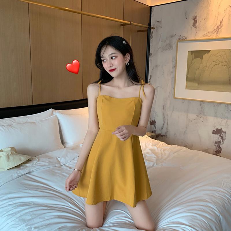 限7000张券海边度假chic吊带女夏装韩版连衣裙