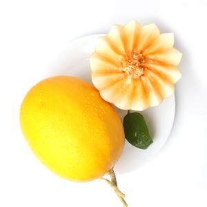甘肃民勤黄金蜜瓜水果新鲜现摘净重6-7斤包邮应季新鲜水果哈密瓜