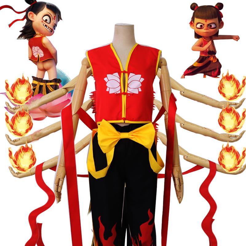 19魔童哪吒电影cosplay服装二次元动漫儿童版角色扮演吒魔化现货