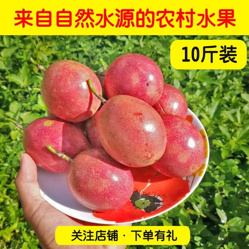广西中现摘新鲜热带孕妇10斤百香果(非品牌)