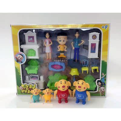 新品热销款 大头儿子小头爸爸家具套装 儿童过家家玩具