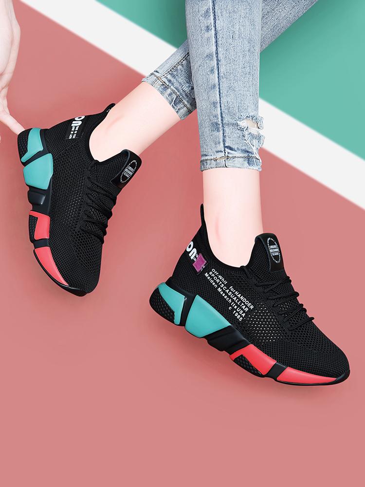 正品内女鞋女子运动鞋2021夏季妈妈鞋新款百搭跑步透气网面休闲鞋