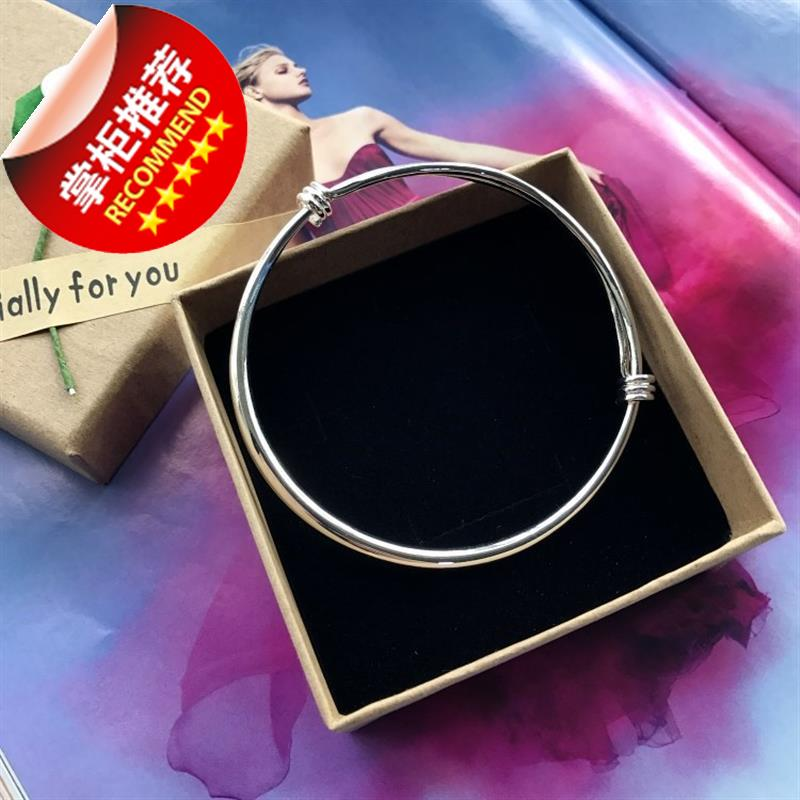 New Korean version Anklet a silver fashion Anklet girls glossy simple and versatile foot ring