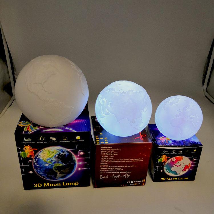 タオバオ仕入れ代行-ibuy99|电子玩具|创意书桌玩具 卧室月球灯氛围灯电子台灯床头小夜灯 厂家直销定做