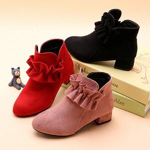 2到12岁11女孩高跟鞋十小孩穿的五六七八岁女童鞋冬短靴子4冬靴3