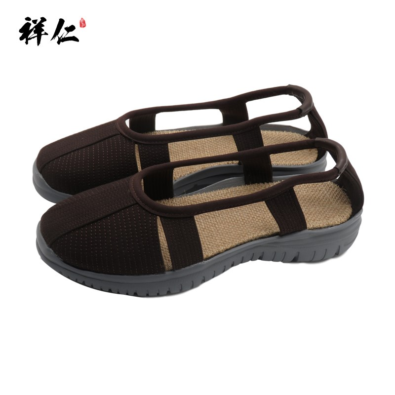 Monk shoes mens and womens summer arhat shoes monks single shoes light soled sandals non slip cloth shoes soft soles