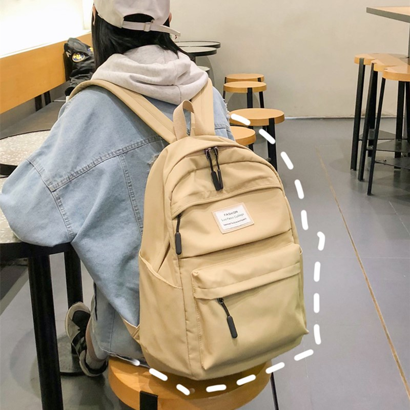 Ins schoolbag female Korean Edition high school students Forest Department simple middle school students high capacity backpack Backpack