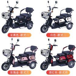锂电池新款女士老年人接送孩子家用小型车电动三轮车大安折叠式