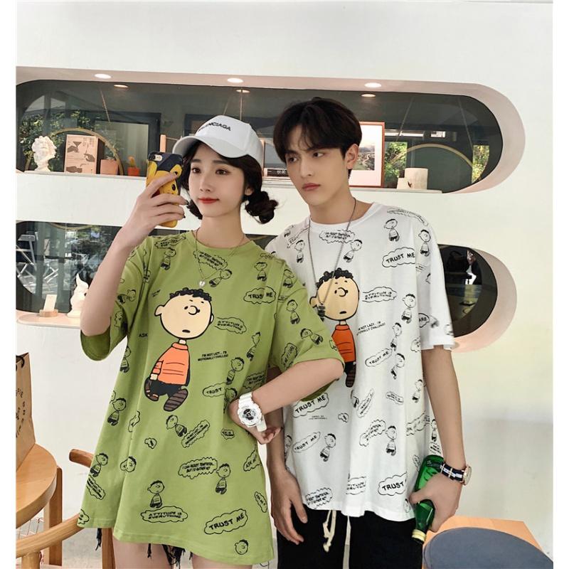 小众设计roora情侣装2020夏装ins超火条纹短袖夏天女T恤新款潮流R