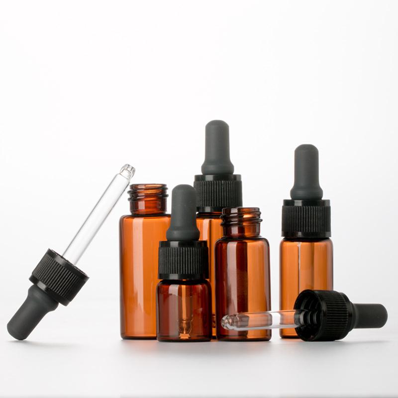 棕色玻璃避光滴管分装瓶精油分装瓶茶色空瓶精华液调配香水小瓶子