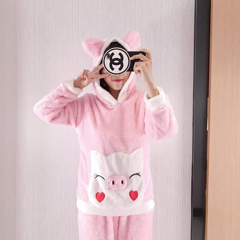 Pajamas with pig patterns clothes with pig patterns female pajamas with pig patterns home clothes