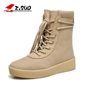 走索女鞋秋冬季女士短靴英伦雪地女靴子潮流女士休闲鞋ZS18616N
