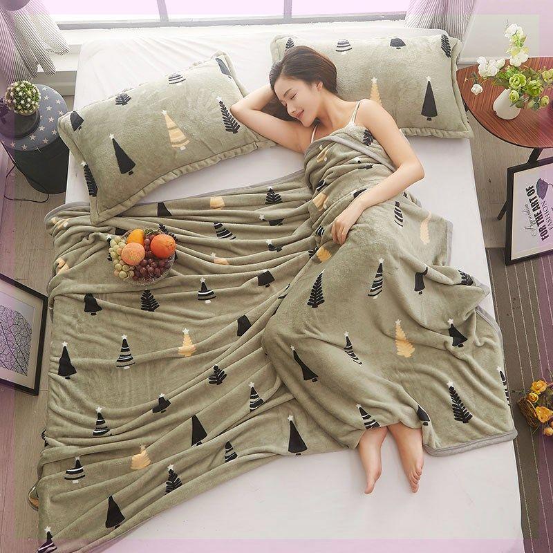 珊瑚毛绒毯子垫加厚保暖床单人加绒冬季小被子单件毛毯法兰绒宿舍