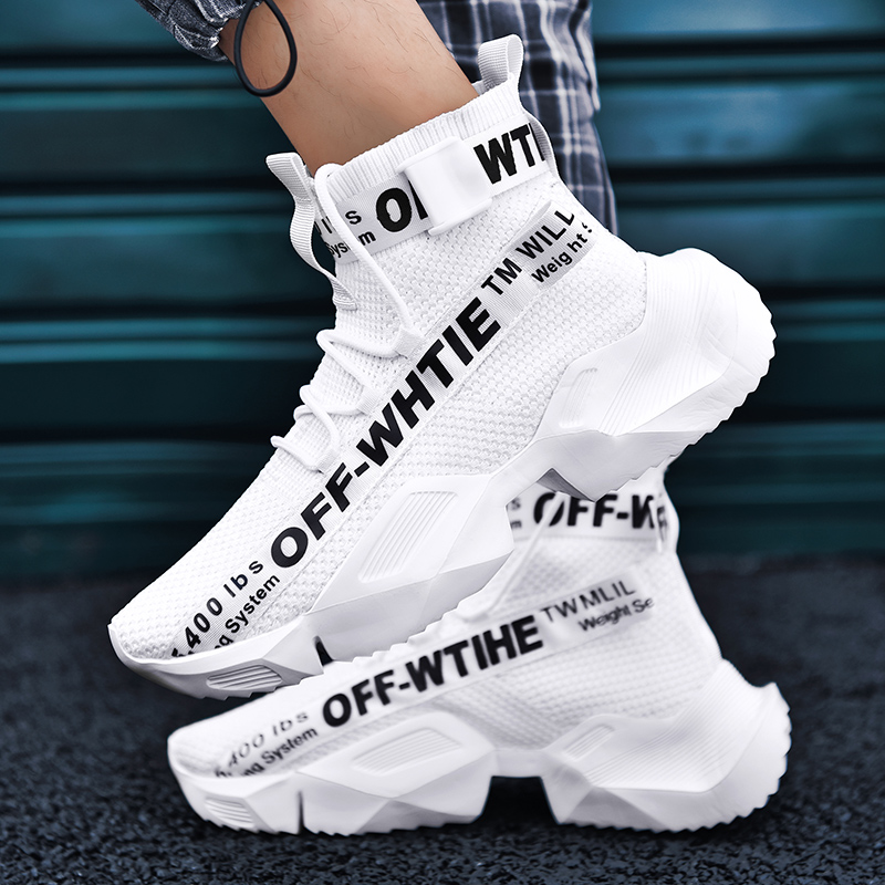 Summer aj1 mens shoes 2021 new shoes mens air force No. 1 trendy shoes summer style flying woven White High Top Sneakers