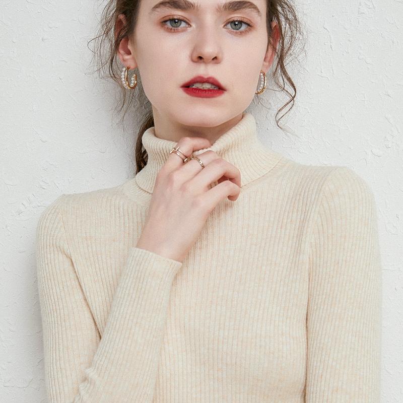 高领毛衣女修身内搭长袖2020洋气秋冬新款加厚套头紧身针织打底衫