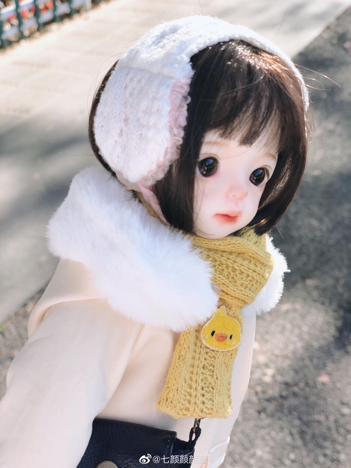 Spot bjd6 points 1 / 6 baby clothes accessories headwear warm winter earmuffs