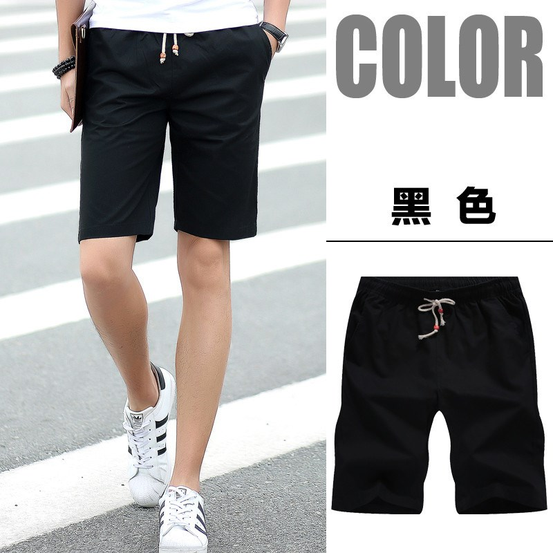 Pure cotton casual pants popular in 2020 summer mens five part pants mens thin loose shorts summer beach pants mens wear