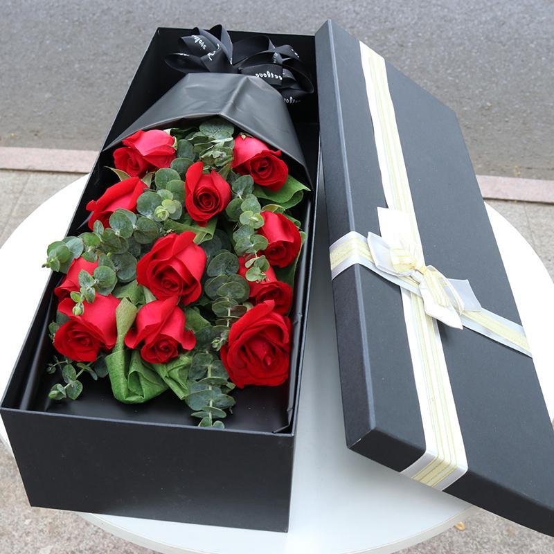 鲜花速递同城北京上海崇左红玫瑰花束生日礼盒江洲扶绥宁明龙