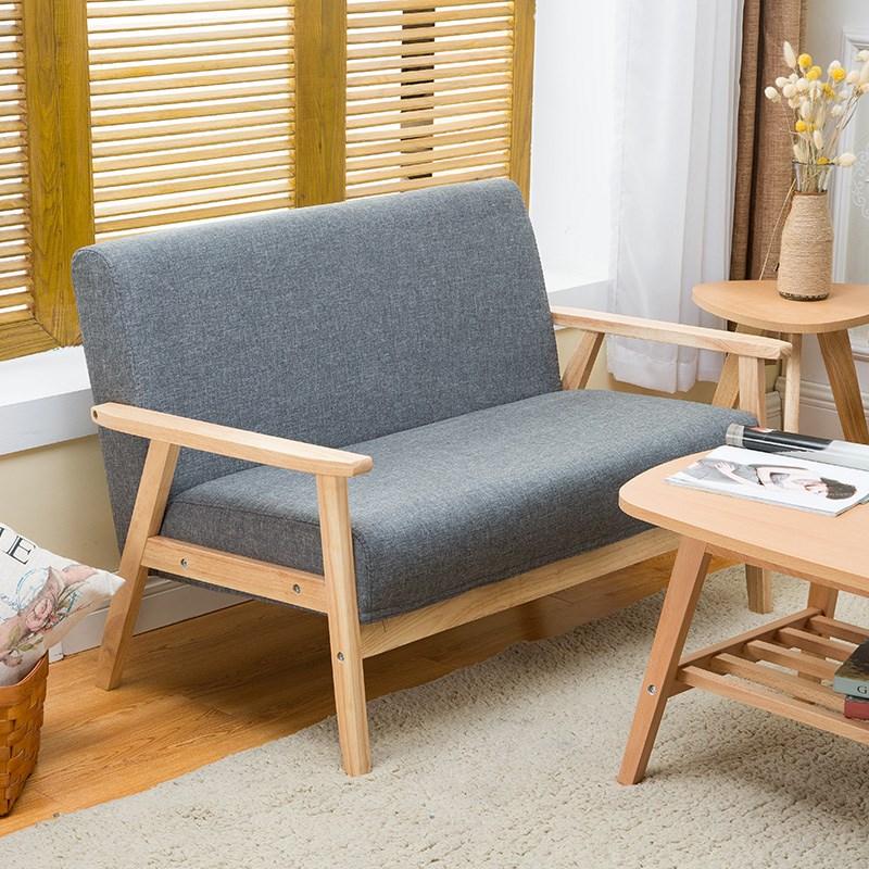 办公单椅布艺小户型日式单人沙发椅(非品牌)