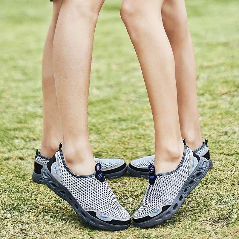 男女款涉水网鞋夏天凉快轻透气防滑休闲男鞋套脚水陆两用穿溯溪鞋