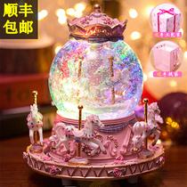 陶瓷雪人娃娃音乐盒八音盒糖利罐创意礼品新年生日礼物送男女友