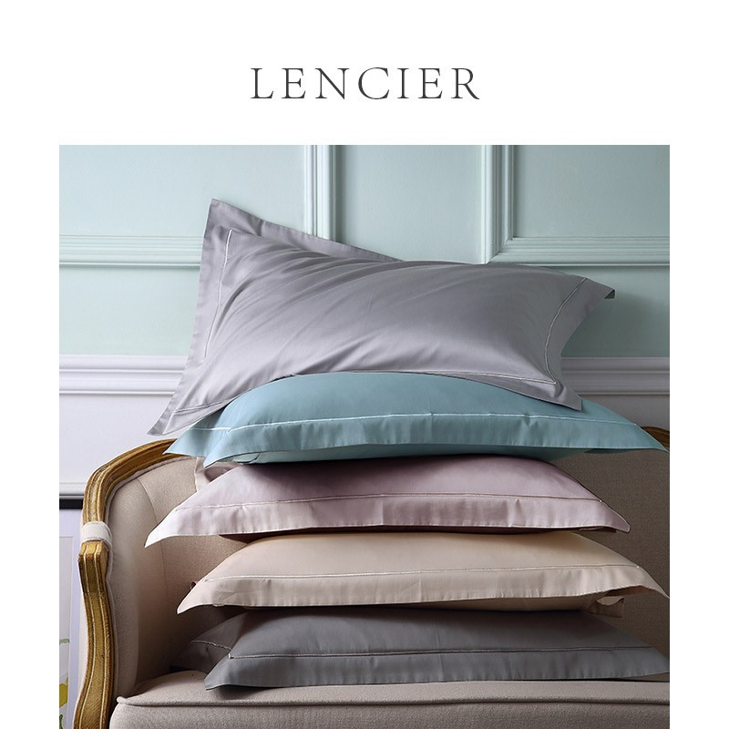 。 Lencier is comfortable to sleep. Pure Nordic style pure cotton double pillow case