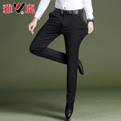 雅鹿男裤子韩版潮流男士休闲裤秋季新款西裤男小脚裤男修身长裤男