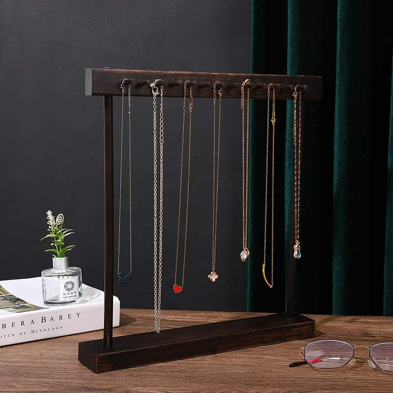 复古做旧项链展示架珠宝首饰柜台陈列道具项链拍摄收纳架子