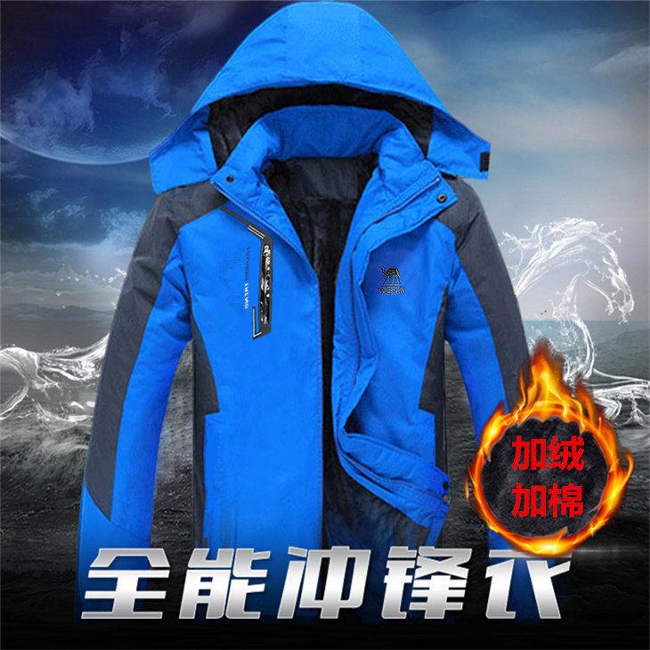 户外冲锋衣男女潮牌三合一可拆卸加绒加厚冬季外套进西藏旅游服装