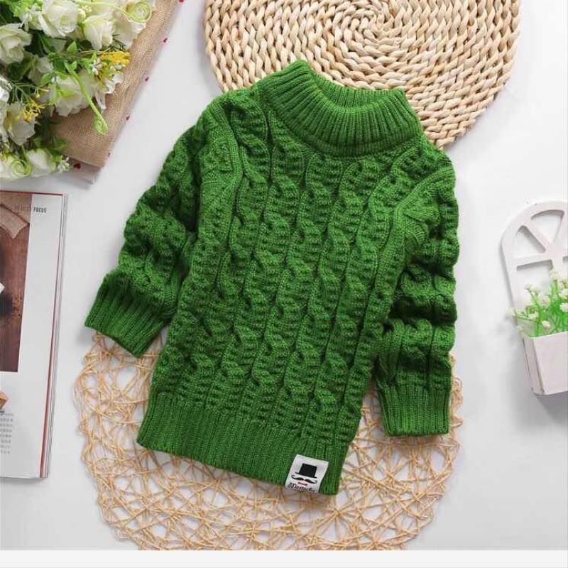 20212g019 childrens clothing boys and girls winter clothing childrens high collar sweater high and low top knitting