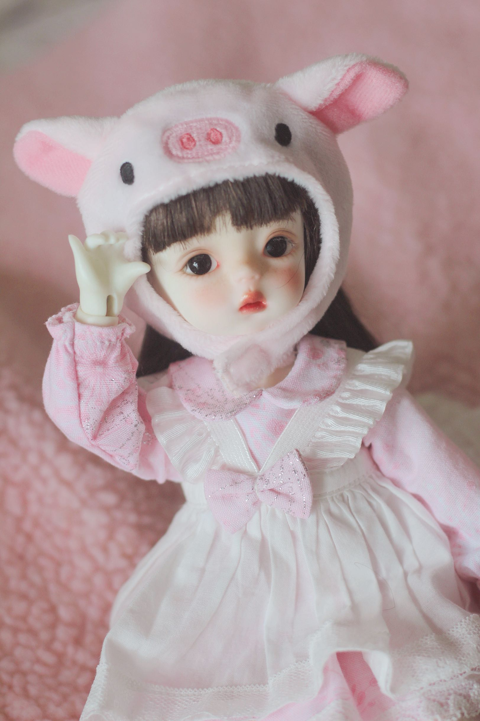 [68 packages] bjd.yosd . 6 points 4 points 1 / 6 baby pig HAT baby clothes accessories cute headdress