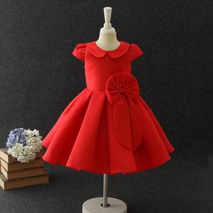 儿童礼服新款公主裙女童公主连衣裙娃娃领可爱淑女蓬蓬裙花童婚纱