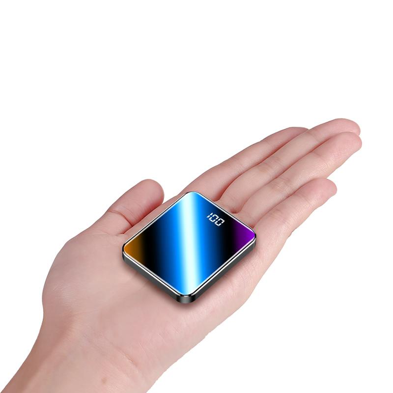 自带线充电宝1000000超大量迷你超薄小巧便携大容量快充闪充苹果oppo华为vivo小米通用移动电源20000毫安无线图片