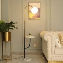 卧室床头创意金色后现代轻奢客厅沙发立式茶几台灯ins北欧落地灯
