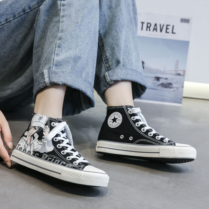 High beauty tennis prince cartoon high top canvas shoes female summer 2020 new student ins shoes