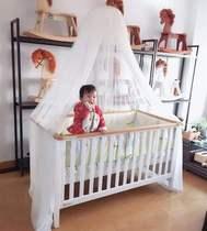 高档品牌欧式加宽实木婴儿床多功能无味儿童新生儿拼接大床榉木水