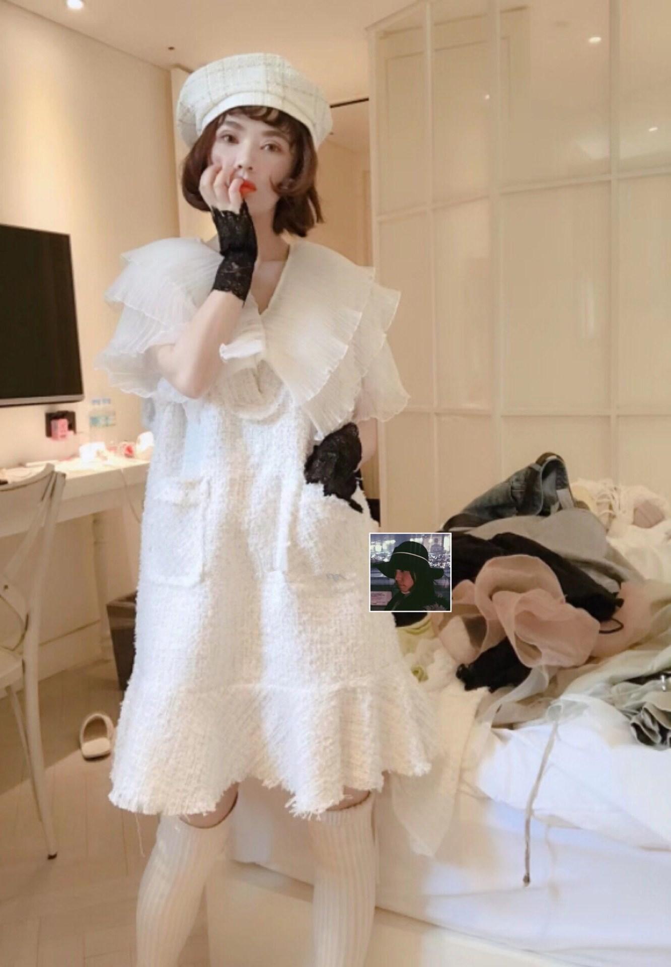 初恋气质显瘦超仙气甜美白色连衣裙(非品牌)
