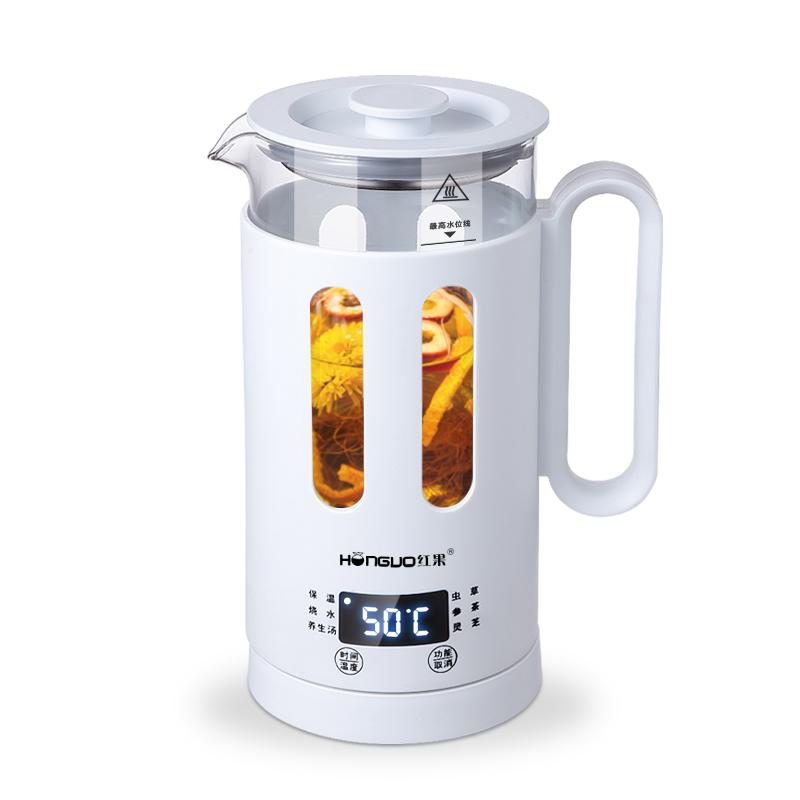 红果养生壶办公室小型1人用全玻璃一体煮茶器小迷你花茶壶全自动