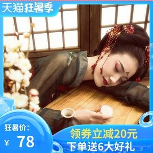 汉服女原创正品中国风夏季仙气薄款白菜全套古装改良正版齐胸襦裙