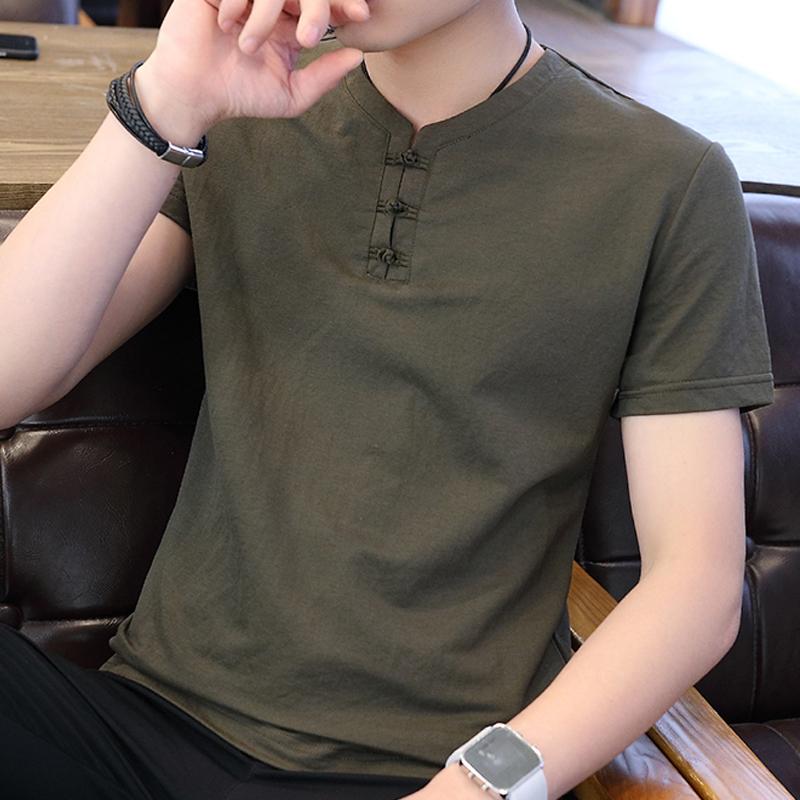 男装夏季2020新款潮流中国风��翠体恤潮牌男士短袖t恤潮流中试薄