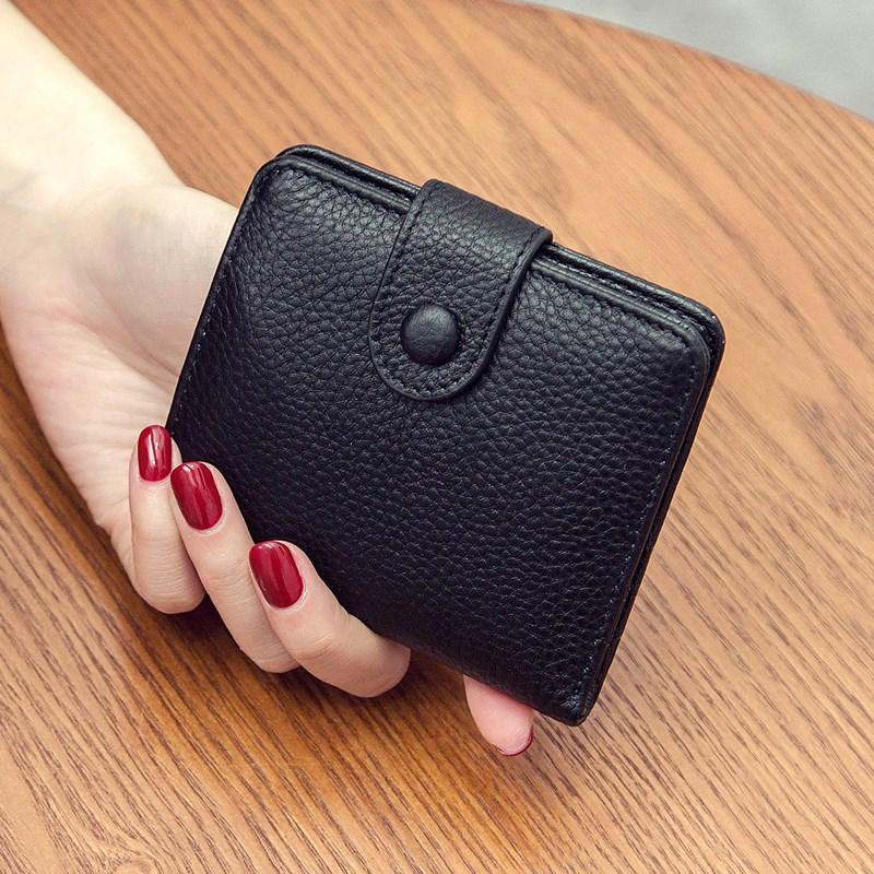 钱夹子女短款 韩版 可爱钱包女士简约薄欧美两折钱夹多卡位钱夹