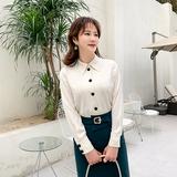 盈公主2020春季新款女韩版雪纺衫职业气质洋气衬衣显瘦遮肚衬衫
