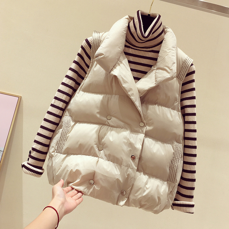 Vest vest women's outer wear winter 2020 new down cotton waistcoat women loose Korean waistcoat women short