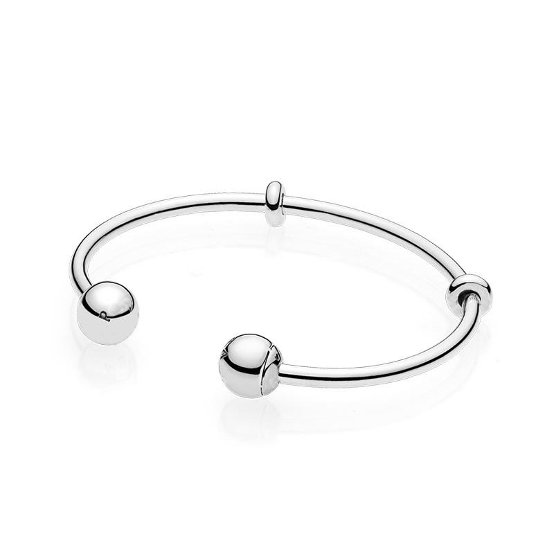 Genuine Panjia BRACELET WOMENS 925 Sterling Silver Beads loose beads open Bracelet womens string accessories DIY