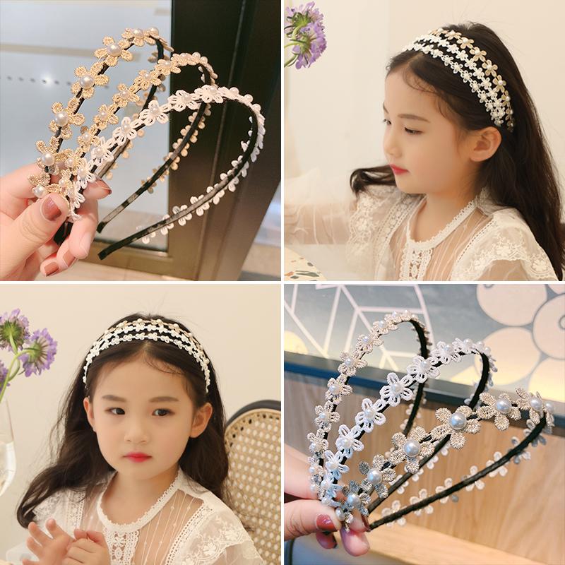 韩国儿童珍珠花朵发箍女童可爱头箍发饰小女孩超仙发卡压发带头饰