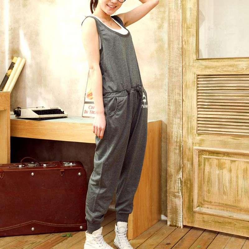 Spring and summer Korean versatile loose thin leisure strap Harlan fashion new Capris for pregnant women